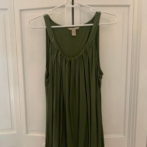 Banana Republic Canopy Green Sleeveless Flow Shirt